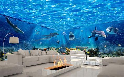 custom foto behang zee wereld thema mooie droom ruimte