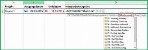 Datumsdifferenz Berechnen : excel datum differenz funktion nettoarbeitstage intl berechnen ~ Themetempest.com Abrechnung