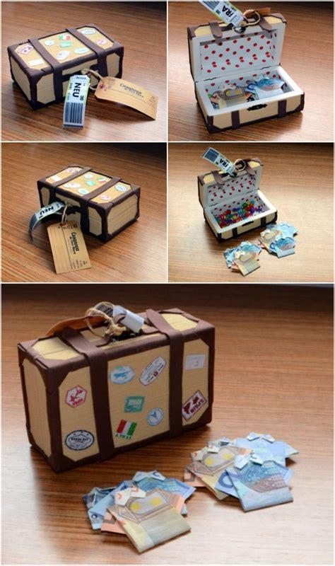 geldscheine falten koffer geldgeschenke zur hochzeit originell verpacken 47 ideen