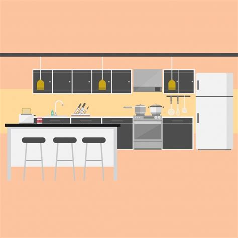 kitchen background design vector