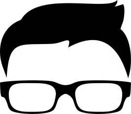 Black Hair Boy with Glasses Clip Art