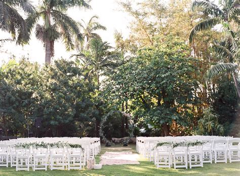 boho chic garden wedding in miami botanical gardens