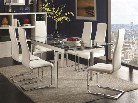 coaster modern dining contemporary dining room set