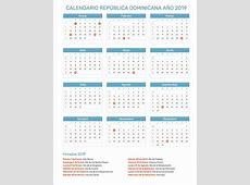 Calendario República Dominicana Año 2019 Feriados