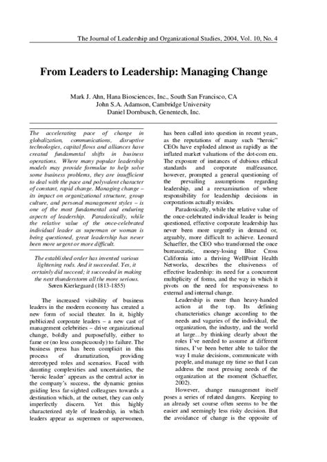 leaders  leadership managing change mark