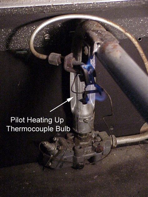 smell gas after lighting pilot ihave an amana furnace sse 80 and it will come on but