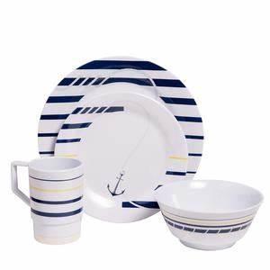 Coastal Melamine Dinnerware Nautical non-skid Melamine