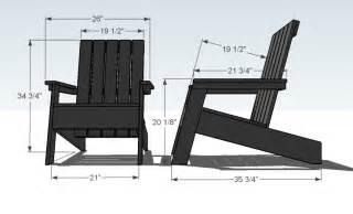 modern adirondack chair plans   build diy