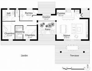 plan maison traditionnelle avec patio ooreka With superior maison en forme de u 1 plan maison traditionnelle avec patio ooreka