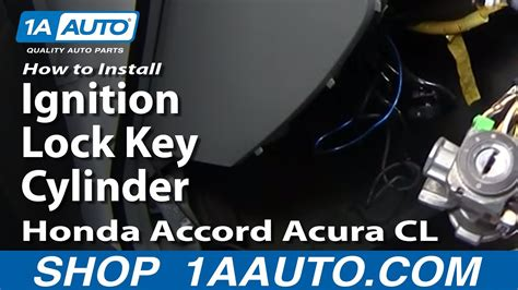 install replace ignition lock key cylinder honda
