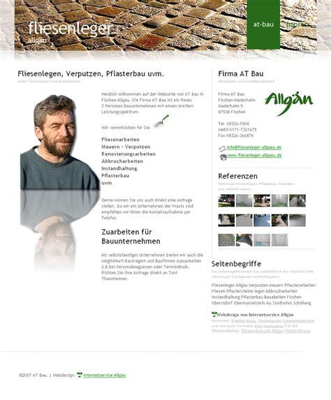 Fliesenleger Kempten by Internetdesign Referenzen Domainnamen
