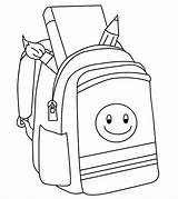 Coloring Backpack sketch template