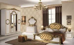 Schlafzimmer Weiß Gold : schlafzimmer refinado in gold wei italien klassik barock 160x200 4 t rig jaago m bel shop ~ Indierocktalk.com Haus und Dekorationen