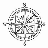Compass Tattoo Coloring Clip Template Pages Drawing Rose Simple Line Print Clipart Sketch Star Sheet North South Basic Points Google sketch template