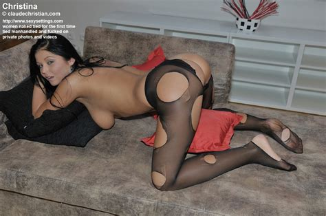 dark haired petite girl christina in ripped xxx dessert picture 4