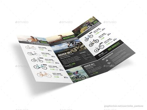 bicycle shop trifold brochure  mikepantone graphicriver