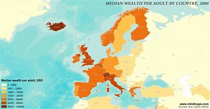 Wealth Europe 2000 Levels Maps Adult Household
