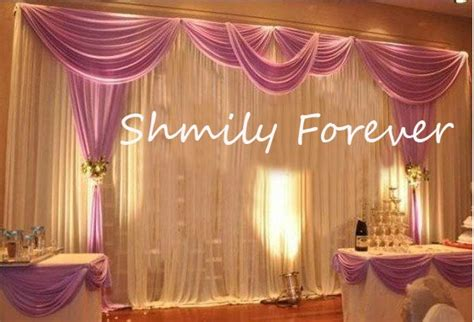 Romantic 3X6Meters Ice Material Soft Wedding Backdrops