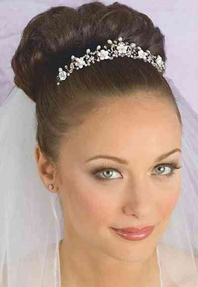 gold crystal pearl  porcelain floral bridal tiara