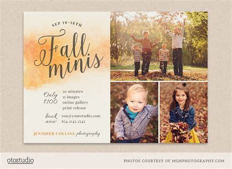 mini session templates fall mini session template flyer templates on creative market