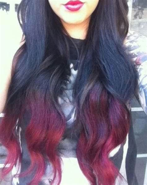 Ombre Black And Red Ombre Hair