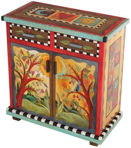 Möbel Bemalen Ideen by Wundersch 246 Ne Bemalte M 246 Bel Buffet 2 Door 2 Drawer