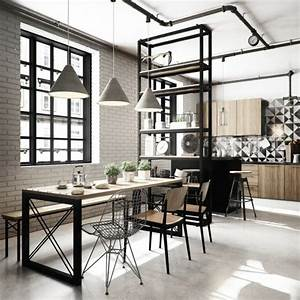 Küchen Und Esszimmerstühle : 45 esszimmer und k chen ideen mit industriellem touch ~ Watch28wear.com Haus und Dekorationen