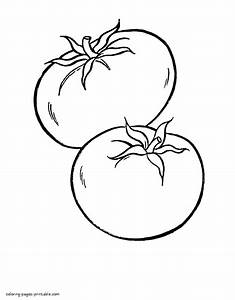 Tomatoes. Preschool coloring book