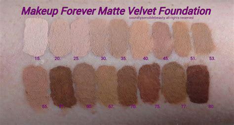 mufe mat velvet makeup forever mat velvet foundation review swatches of