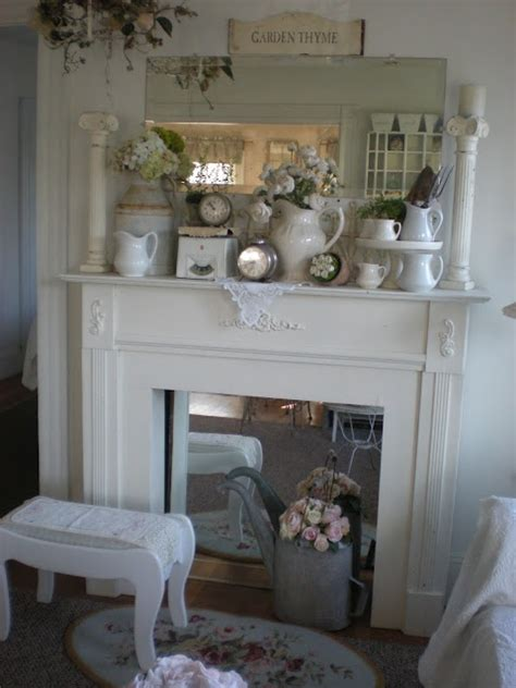 shabby chic fireplace ideas not so shabby but certainly chic cottage decor for your mantle spring inspiration pinterest