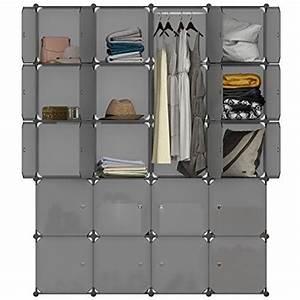 Meuble Pour Vetement : langria armoire penderie 20 cubes avec portes meuble s parateur de pi ce tag re modulable ~ Teatrodelosmanantiales.com Idées de Décoration
