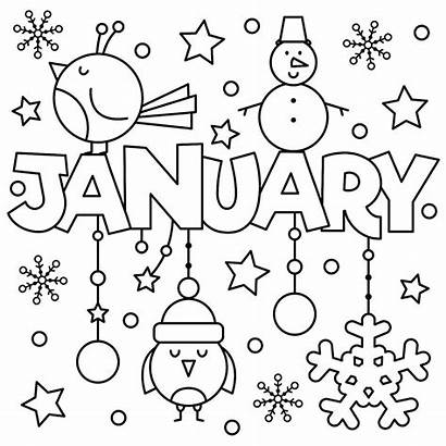 Coloring January Pages Printable Welcome Fun Preschool