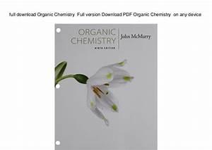 Organic Chemistry John Mcmurry Pdf Download