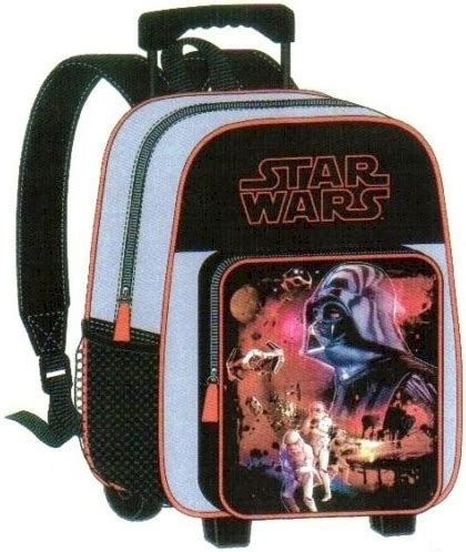 star wars rolling backpack large school bag roller wheels