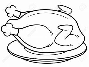 Chicken Food Clipart Black And White - ClipartXtras