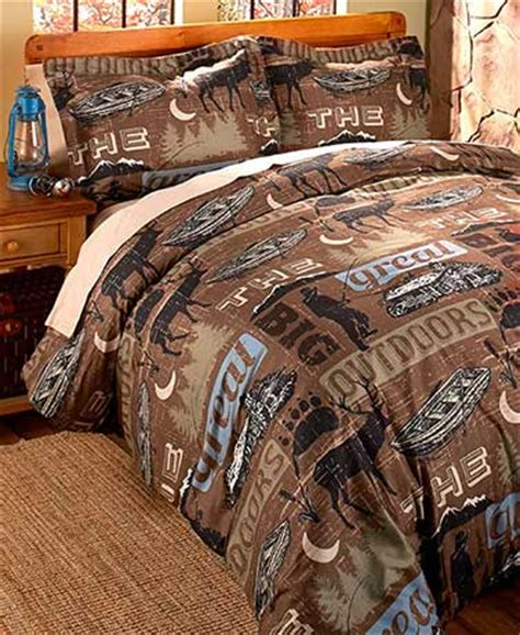 3pc king comforter set outdoor themed rustic cabin lodge