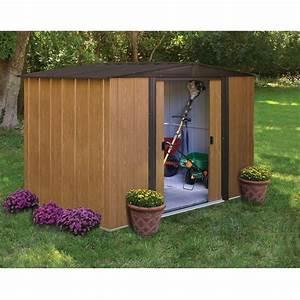 Abris De Jardin Auvergne : wl86 abri de jardin 4 m m tal aspect bois 253x181 achat ~ Premium-room.com Idées de Décoration