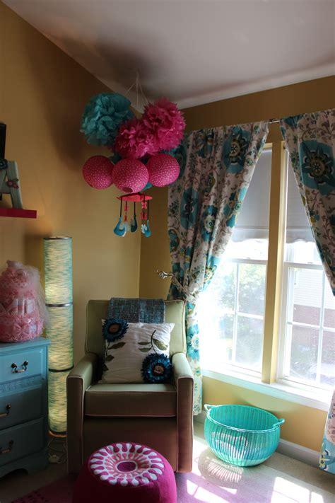 teal  pink nursery project nursery