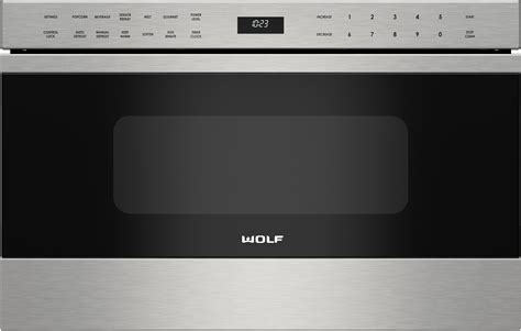 wolf microwave drawer wolf md24tes 24 inch microwave drawer with 1 2 cu ft