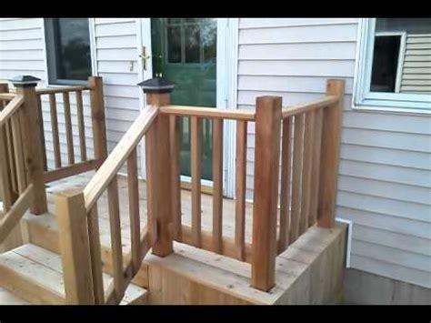 cedar deck  steps concrete replacement youtube