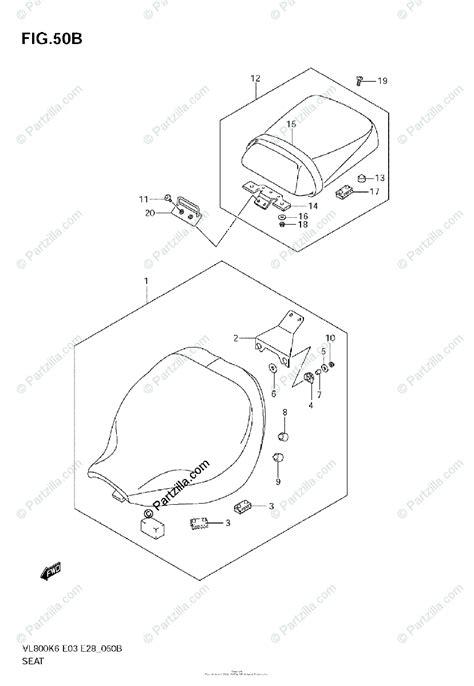 suzuki motorcycle  oem parts diagram  seat vlk
