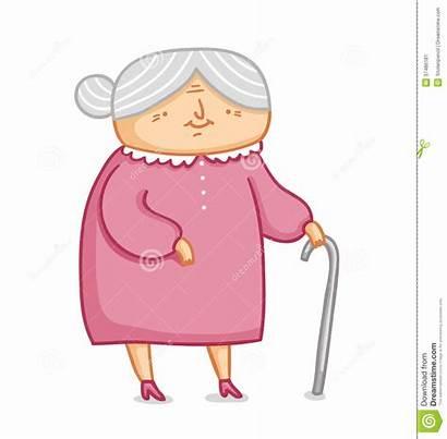 Grandma Illustration Vector Lady Cartoon Granny Character
