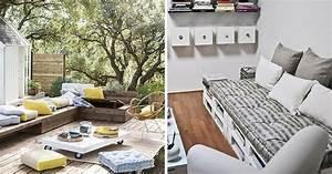 Coussin Banquette Palette : coussin pour palette o trouver des coussins pour meubles en palette ~ Teatrodelosmanantiales.com Idées de Décoration