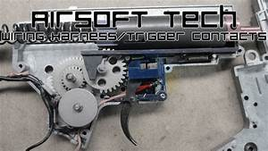 Airsoft Tech  Wiring Harness And Trigger Contacts  V2 Aeg