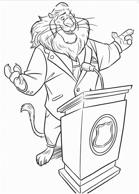 Printable Coloring Pages by Zootropolis Coloring Pages