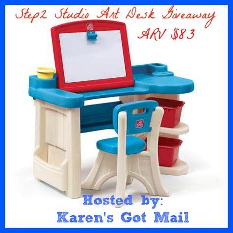 Step2 Studio Art Desk Giveaway. 3 Inch Crystal Drawer Pulls. Corner End Table. Desk Sales. Filing Drawer. Modern Nesting Tables. Diy Pc Desk. Good Table Saw. White Vanity With Drawers