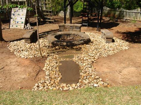 rock pit rock fire pit fireplace design ideas