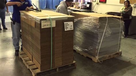 atco packaging pallet strapping manual  machine youtube