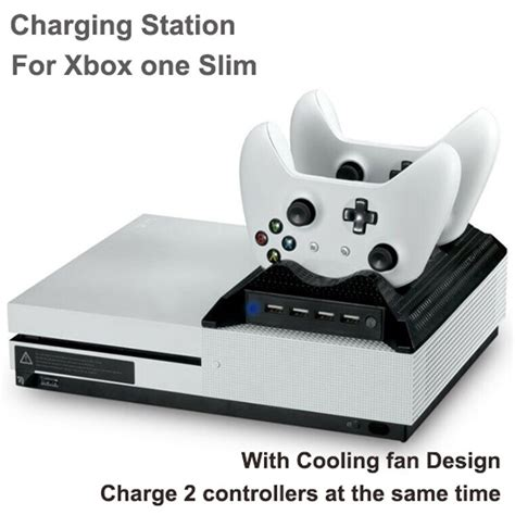 xbox 360 controller with fan dual charging station dock with fan for xbox one