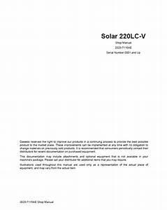 Daewoo Daios Doosan Solar Series Track Excavators Pdf